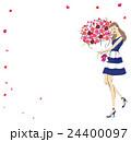 花束を抱きしめる女性 24400097