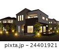 住宅 夜 ライトアップのイラスト 24401921