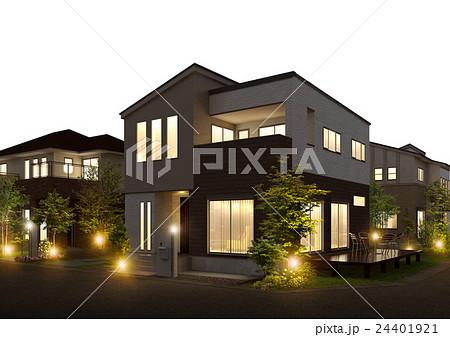 住宅夜景 24401921