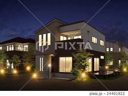 住宅夜景 24401922