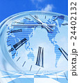 世界地図の時計 24402132