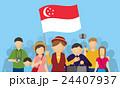 シンガポール人観光客とツアーガイド 24407937