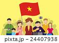 ベトナム人観光客とツアーガイド 24407938