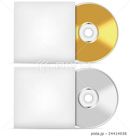 blank cd or dvd advertising template のイラスト素材 24414036 pixta