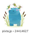 鳥 カバ 動物のイラスト 24414627