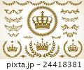 王冠、月桂樹、飾りセット 24418381