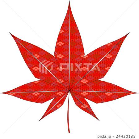 紅葉(和柄)のイラスト素材 [24420135] - PIXTA