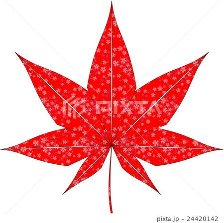 紅葉(和柄)のイラスト素材 [24420142] - PIXTA