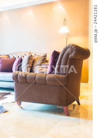 Pillow on sofaの写真素材 [24421161] - PIXTA