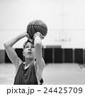 Basketball Player Athlete Exercise Sport Stadium Concept 24425709