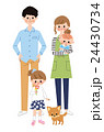 4人家族と犬 24430734