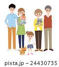 三世代 6人家族と犬と猫 24430735