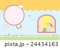 【年賀状】女の子と熊 24434163