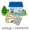 住宅ローン 住宅販売 マイホームのイラスト 24435076