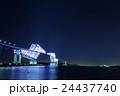 夜景 東京ゲートブリッジ イルミネーションの写真 24437740