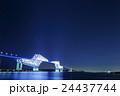 夜景 東京ゲートブリッジ イルミネーションの写真 24437744