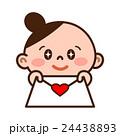 ラブレター 恋 女の子のイラスト 24438893