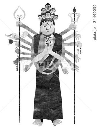 仏像千手観音のイラスト素材 24440030 Pixta