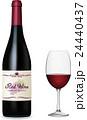 ワイン ワインボトル ワイングラスのイラスト 24440437