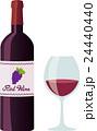 赤ワイン ワイン ワイングラスのイラスト 24440440