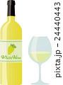 白ワイン ワイン ワイングラスのイラスト 24440443