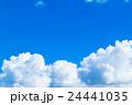 真夏の空 積乱雲 入道雲 夏の晴れた空 コピースペース 24441035