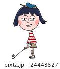 ゴルフ 女性 スポーツのイラスト 24443527