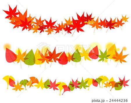 秋もみじ銀杏葉っぱフレームのイラスト素材 24444236 Pixta