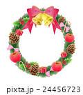 クリスマスリース 赤系 24456723