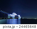 夜景 東京ゲートブリッジ イルミネーションの写真 24465648