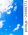 雲 綿雲 積雲 高積雲 青い空 白い雲 真夏の空 背景用素材 クラウド 青空 合成用背景 24466771