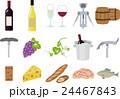 アイコン ワイン セットのイラスト 24467843