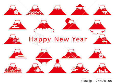 富士山 年賀状のイラスト素材 24470100 Pixta