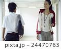 教師 先生 男子中学生の写真 24470763