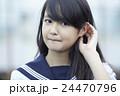ポートレート 中学生 女子中学生の写真 24470796