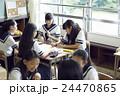 女子中学生 生徒 授業中の写真 24470865