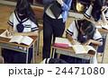 女子中学生 生徒 学生生活の写真 24471080