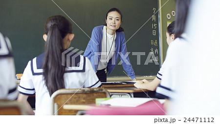 学校 授業風景 中高生イメージ 24471112