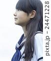 ポートレート 中学生 女子中学生の写真 24471228