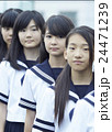 ポートレート 4人 中学生の写真 24471239