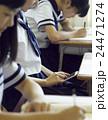 女子中学生 学生 授業中の写真 24471274