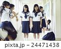 ポートレート 女子 女子中学生の写真 24471438