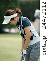 Japanese woman golfer , housewife 24472112