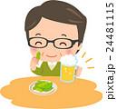 ビールを飲む中年男性 24481115