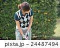 Japanese woman golfer , housewife 24487494