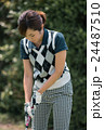 Japanese woman golfer , housewife 24487510