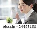コーヒーを飲むビジネスウーマン 24498168