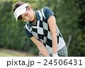 Japanese woman golfer , housewife 24506431