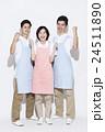 介護士 ガッツポーズ 男性の写真 24511890