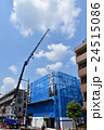 建築現場 クレーン 建築の写真 24515086